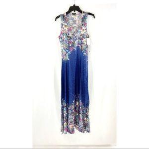 Komarov floral v-neck maxi dress